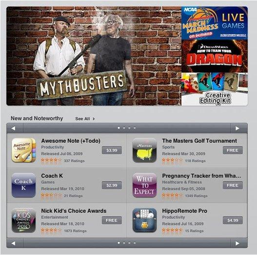 iPad App Store - Les premières images