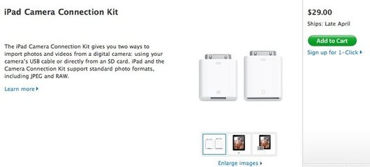 iPad camera connection Kit - Maintenant en vente au US