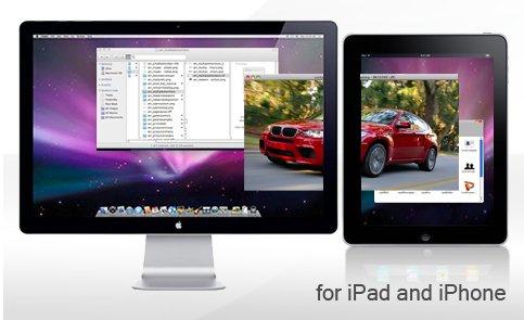 L'iPhone ou l'iPad comme 2ième moniteur Multi Touch