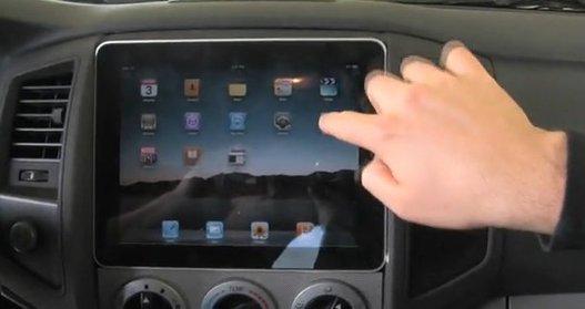 un ipad comme syst me audio dans une voiture. Black Bedroom Furniture Sets. Home Design Ideas