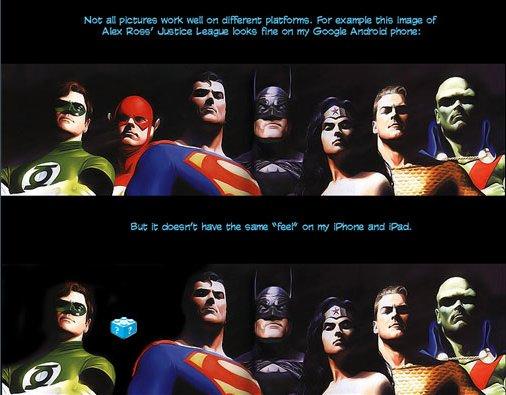 Les Super Heros font la gueule à l'iPad