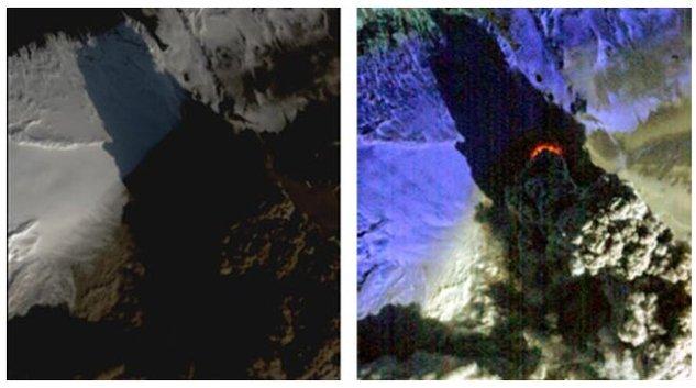 Eruption du volcan en Islande - Le nuage est toujours présent