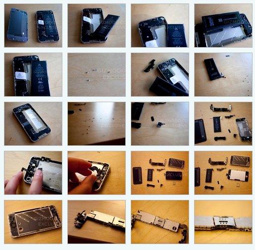 L'iPhone 4G en pièces détachées