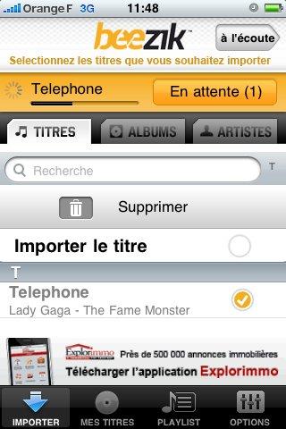 Beezik sur iPhone, Android et Blackberry