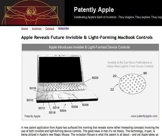 Tous les brevets d'Apple de septembre 2006 à nos jours