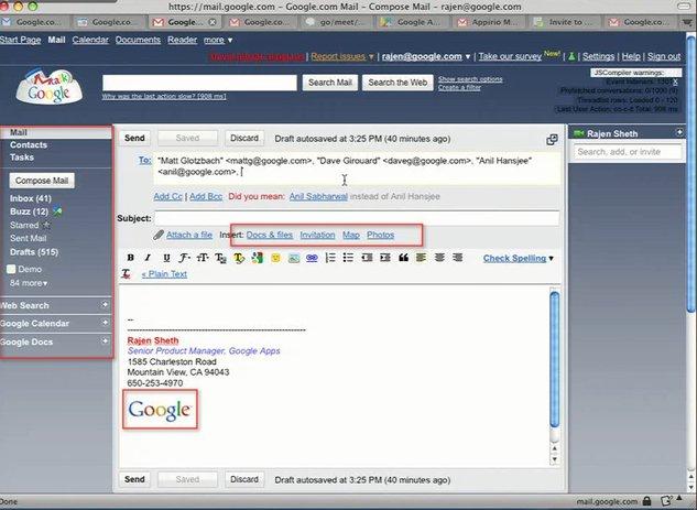 Gmail - De futures fonctionnalités pour bientôt ?