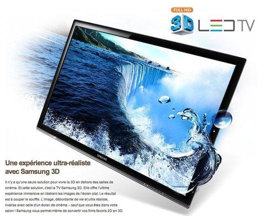 Samsung LED TV 3D - La pub TV nous promet de belles images