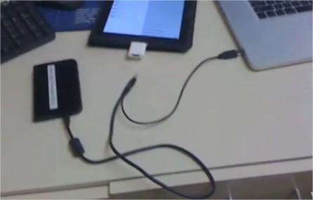 Connecter un disque dur externe à son iPad jailbreaké, c'est possible mais ...