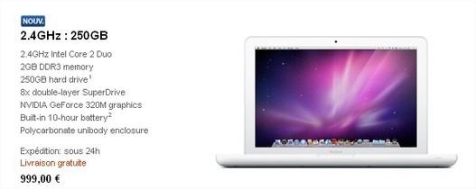 Un nouveau Macbook 13 pouces à 999 €