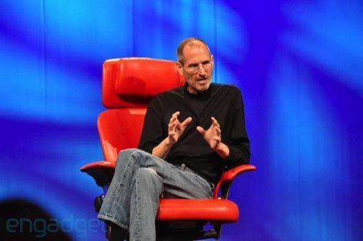 Steve Jobs interrogé à la conférence D8