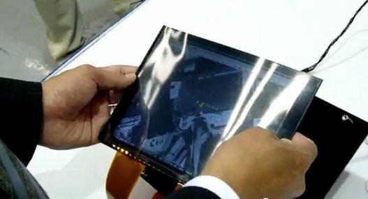 Un écran souple chez Toshiba