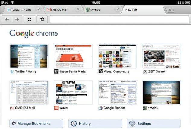 Google Chrome pour iPad - ce serait pas mal