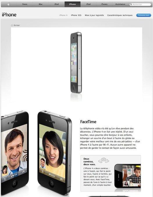 L'iPhone 4 vous attend sur Apple.fr