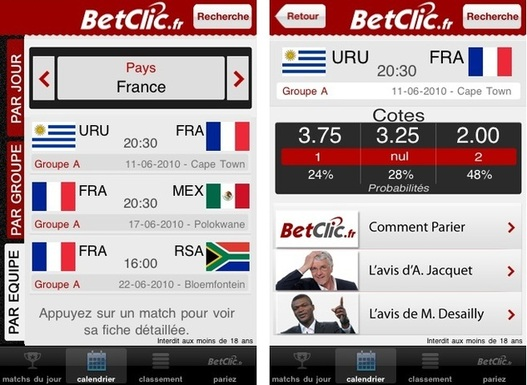 BetClic.fr lance son application iPhone