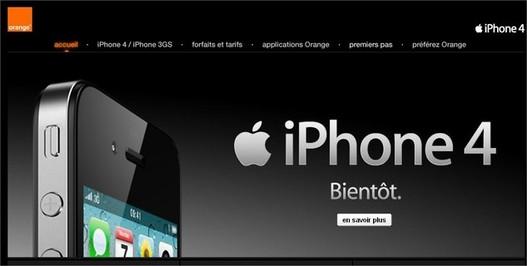 iPhone 4 chez Orange - Réservez le , n'attendez pas