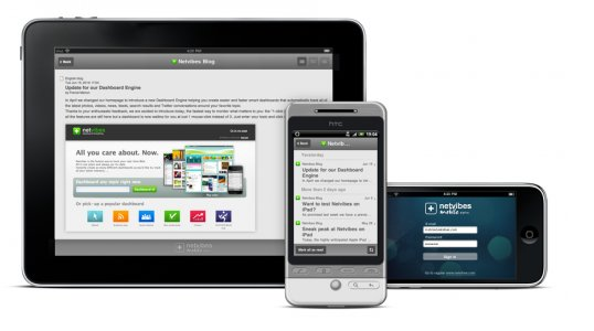 Netvibes sur iPad, iPhone et aussi Android