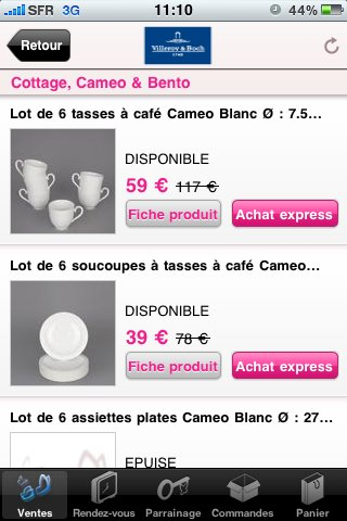 Vente Privée.com sort son application iPhone