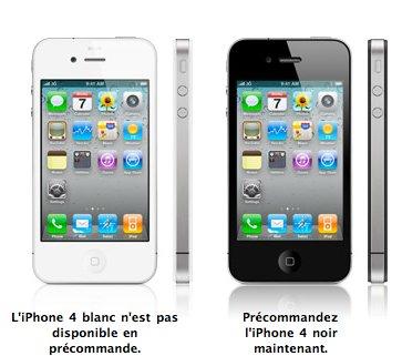 iPhone 4 blanc - Pas avant juillet