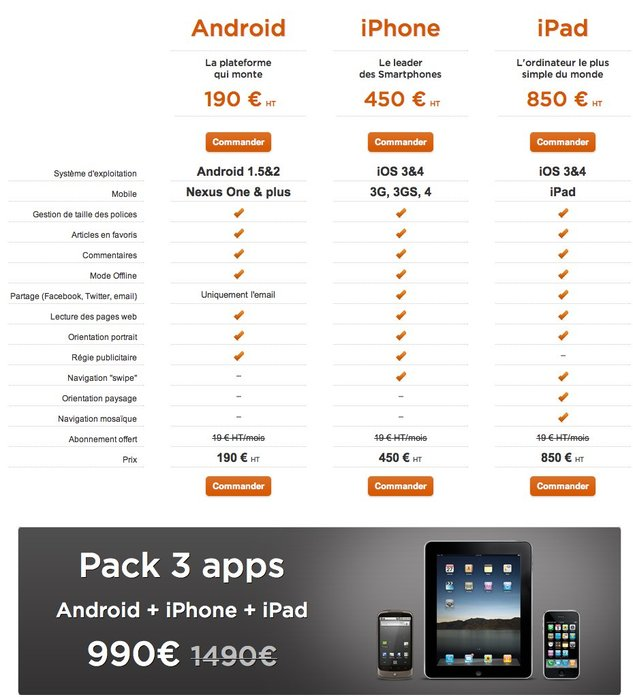 WMaker ouvre ses offres mobiles ( iPhone, iPad, Android )