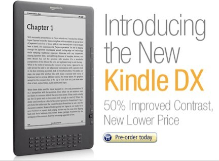 Amazon sort un nouveau Kindle DX