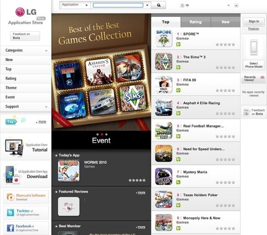 LG ouvre son Application Store