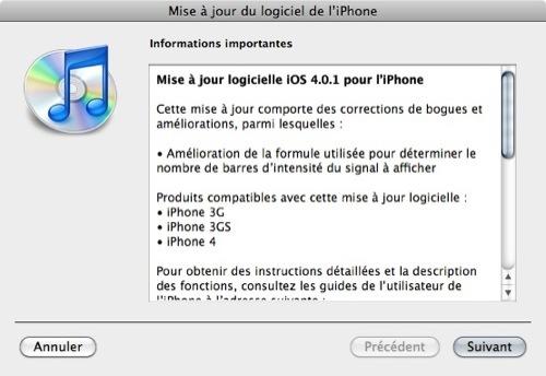 Téléchargez iPhone iOS 4.0.1