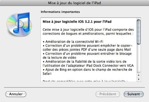 Téléchargez iOS 3.2.1 pour iPad