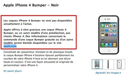 Apple met les Bumper de côté en attendant de les offrir