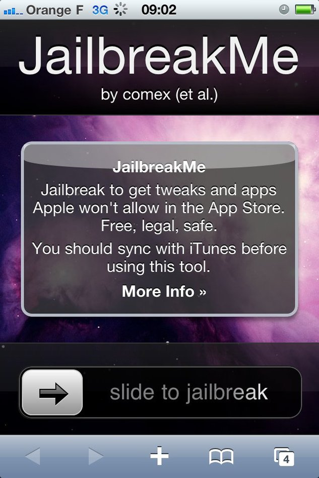 JailbreakMe - Jailbreak de l'iPhone 4 , iPad, iPod Touch et tous les iPhone
