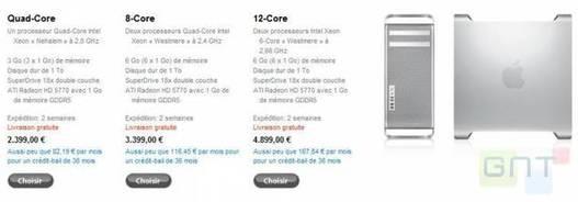 Apple met à jour sa gamme Mac Pro