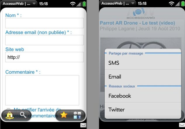 L'application AccessOWeb sous webOS est disponible