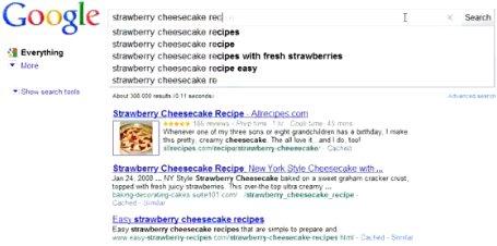 Affichage instantané des recherches sur Google pour bientôt