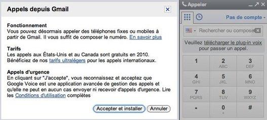 Google Voice sur Gmail - ça marche en France mais pas longtemps