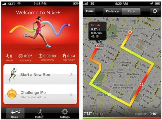 Nike+ GPS - Une application iPhone pour les coureurs