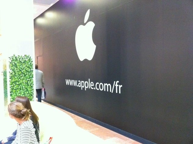 Un Apple Store en construction à Vélizy 2