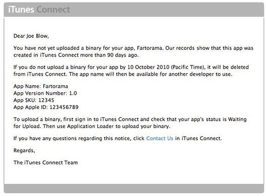 Apple commence le ménage sur l'App Store