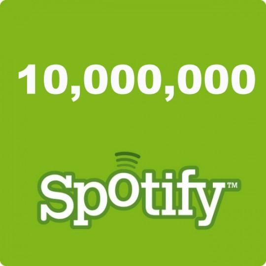Spotify franchit le cap des 10 millions d'utilisateurs