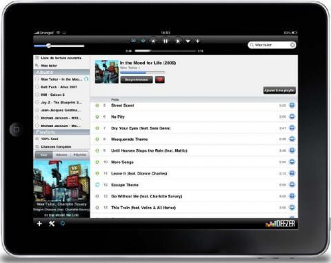 Deezer pour iPad est disponible !