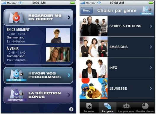 M6 et M6 Replay pour iPhone maintenant sur l'App Store