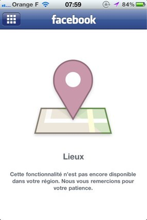 Facebook Lieux arrive en France