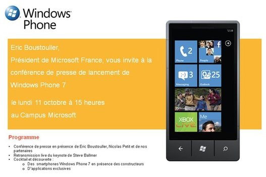 Windows Phone 7 - Lancement le 11 octobre 2010