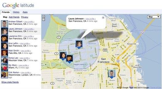 Google Latitude - géolocalisation à partir d'un ordinateur