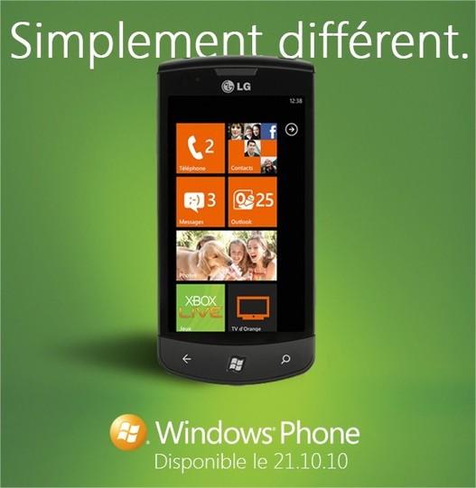 Windows Phone 7 le 21 octobre 2010  - La pub vidéo