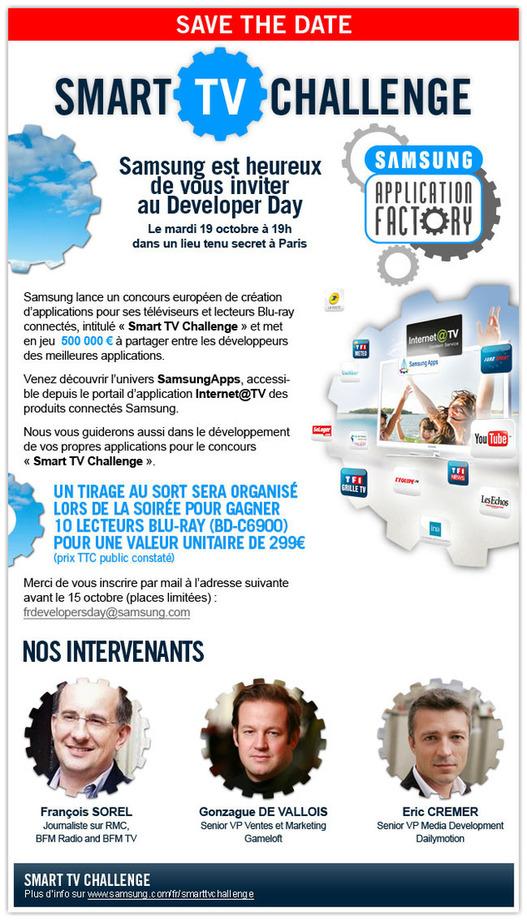 """Inscrivez-vous à la soirée """"Developer Day"""" organisée par Samsung"""