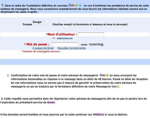 Ne croyez pas à ce genre de message de Gmail