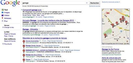 Google Adresses - Google localise maintenant chaque recherche par lieu