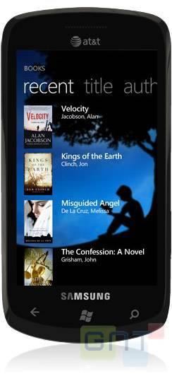 Windows Phone 7 aura son application Kindle