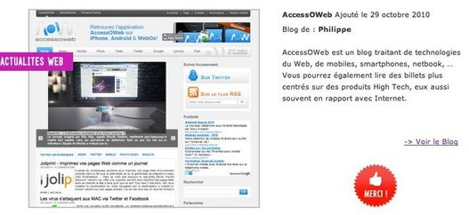 AccessOWeb aux Golden Blogs Awards