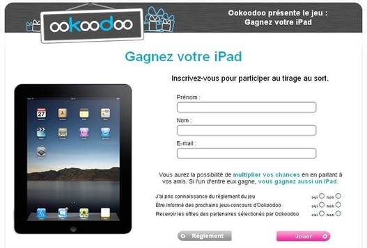 Ookoodoo vous offre un iPad