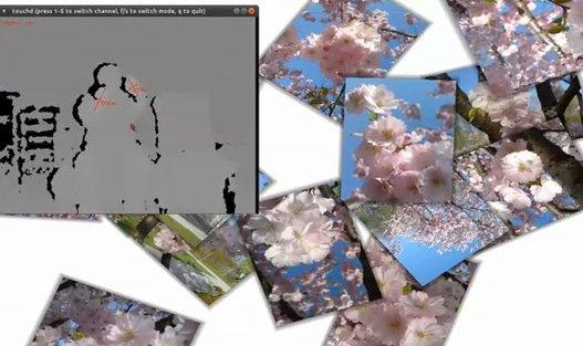 Du Multi Touch avec une Kinect hackée
